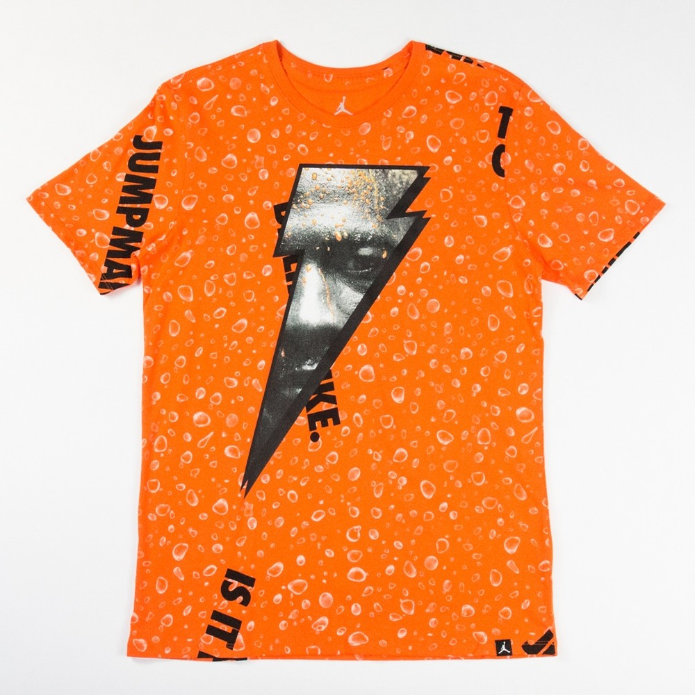 Like Mike Allover Print T-Shirt (Safety Orange)