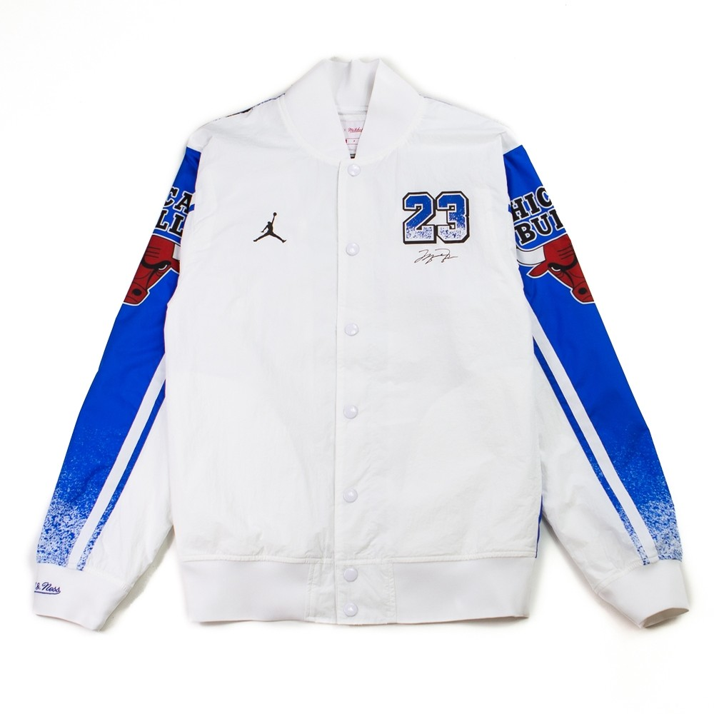Mitchell and Ness x Jordan Warm Up Jacket (White)