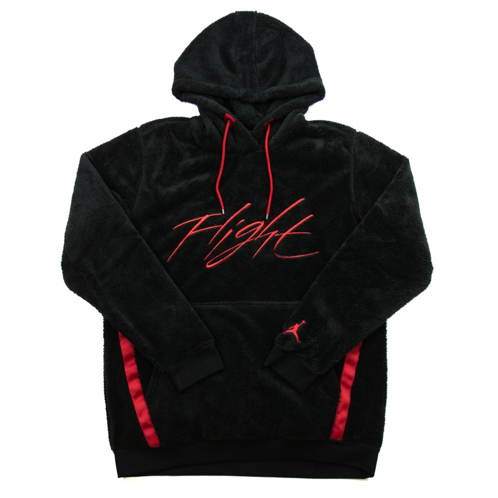 Wings of Flight Fleece Hoodie (Black/Red)