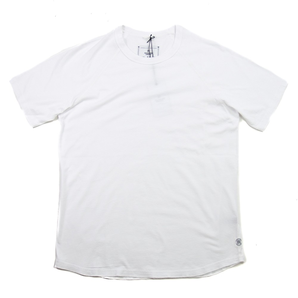 Knit Cotton Jersey Raglan Tee (White)