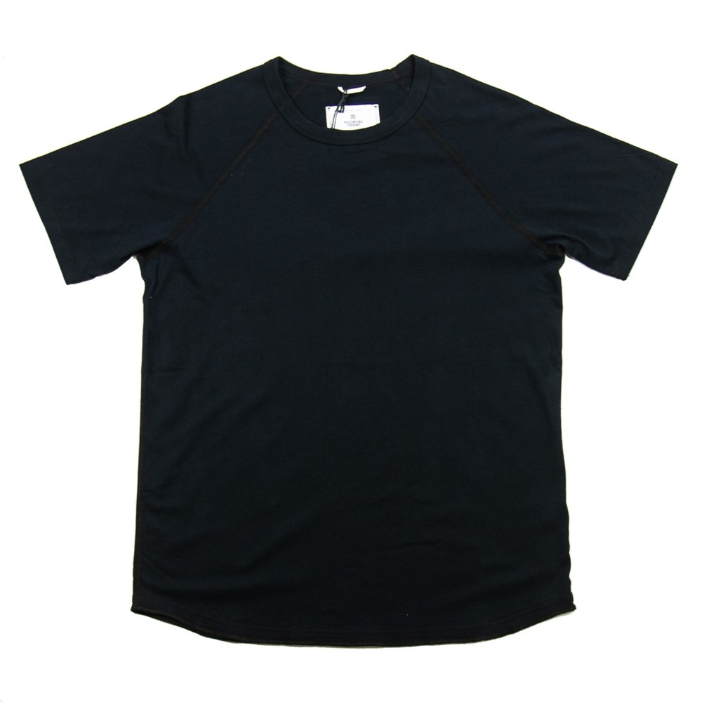 Knit Cotton Jersey Raglan Tee (Black)