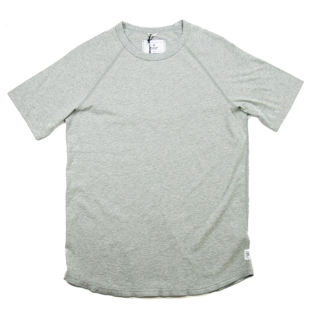 Knit Cotton Jersey Raglan Tee (Heather Grey)