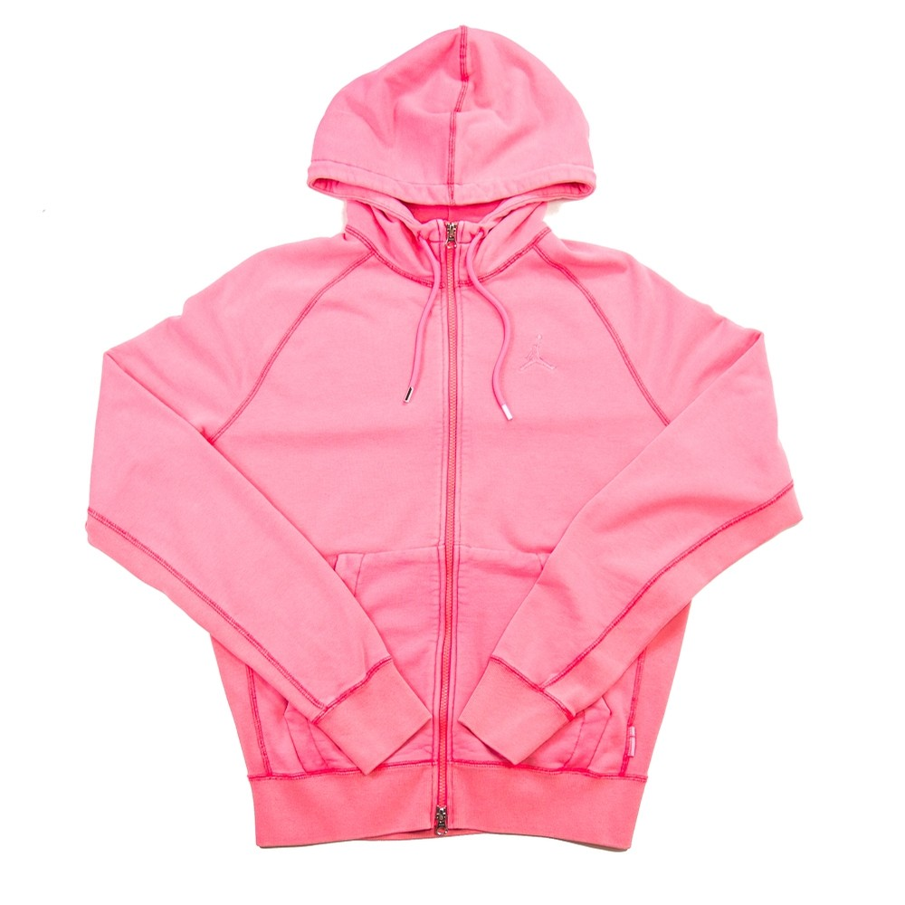 MJ Wings Washed Fleece Full Zip (Digital Pink)