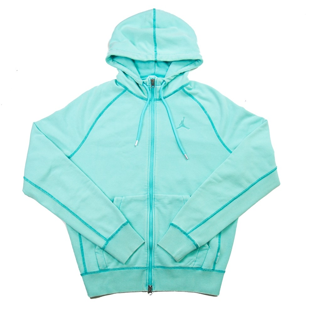 MJ Wings Washed Fleece Full Zip (Light Aqua)