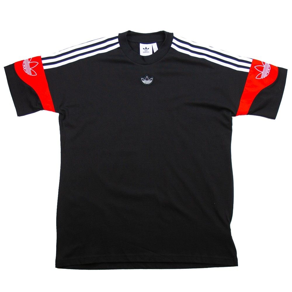 TS Trefoil Tee (Black/Core Red)