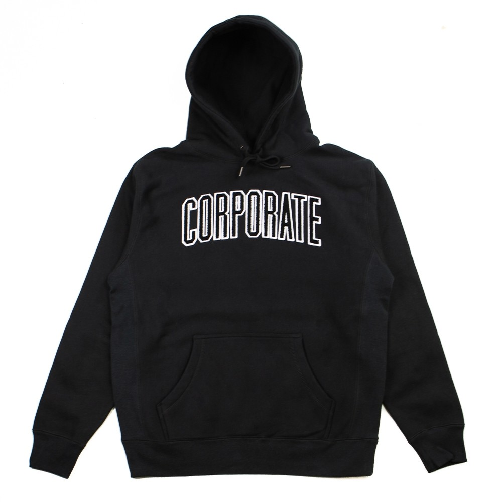Arch Chenille Hoodie (Black)