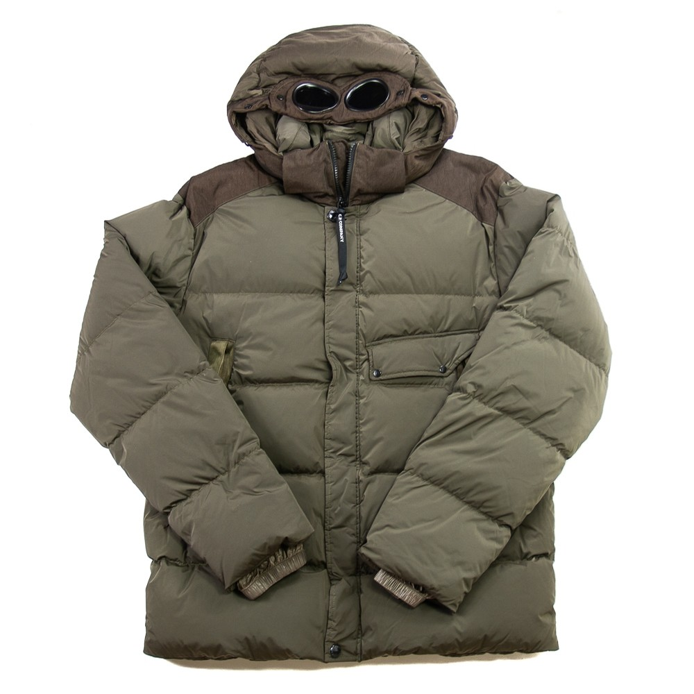 Nycra Goggle Puffer Jacket (Dusty Olive)