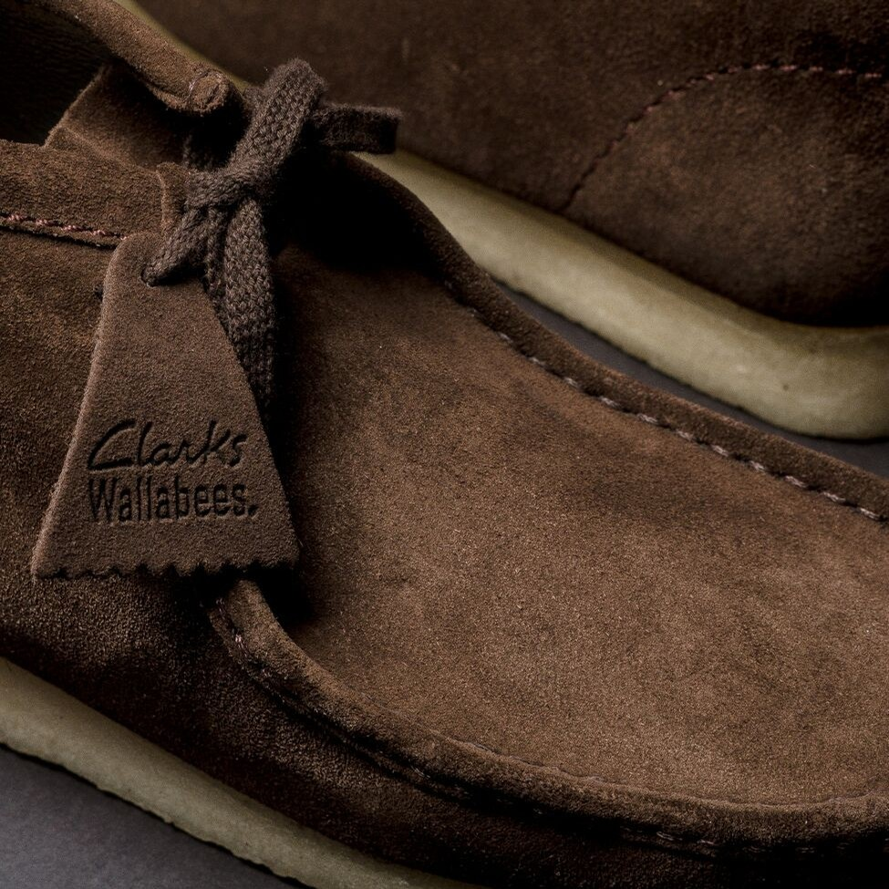 Wallabee Boot (Dark Brown Suede)