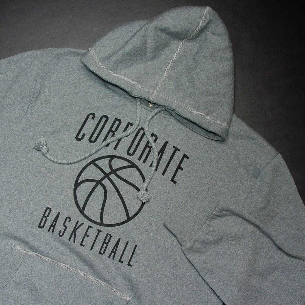Corporate BBall Hoodie (Grey/Black)