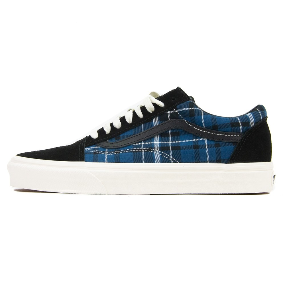 Old Skool (Black/Blue Plaid)