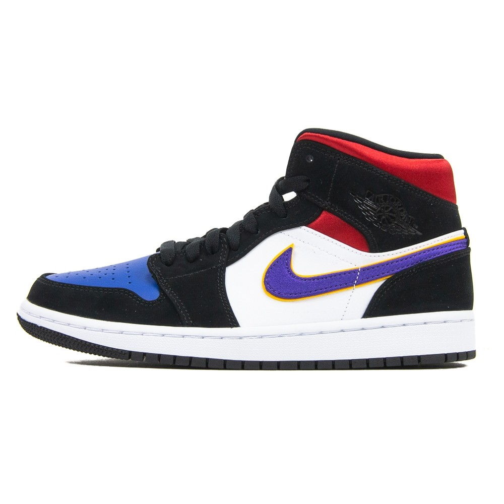 Air Jordan 1 Mid SE (Black/Field Purple/White/Gym Red)