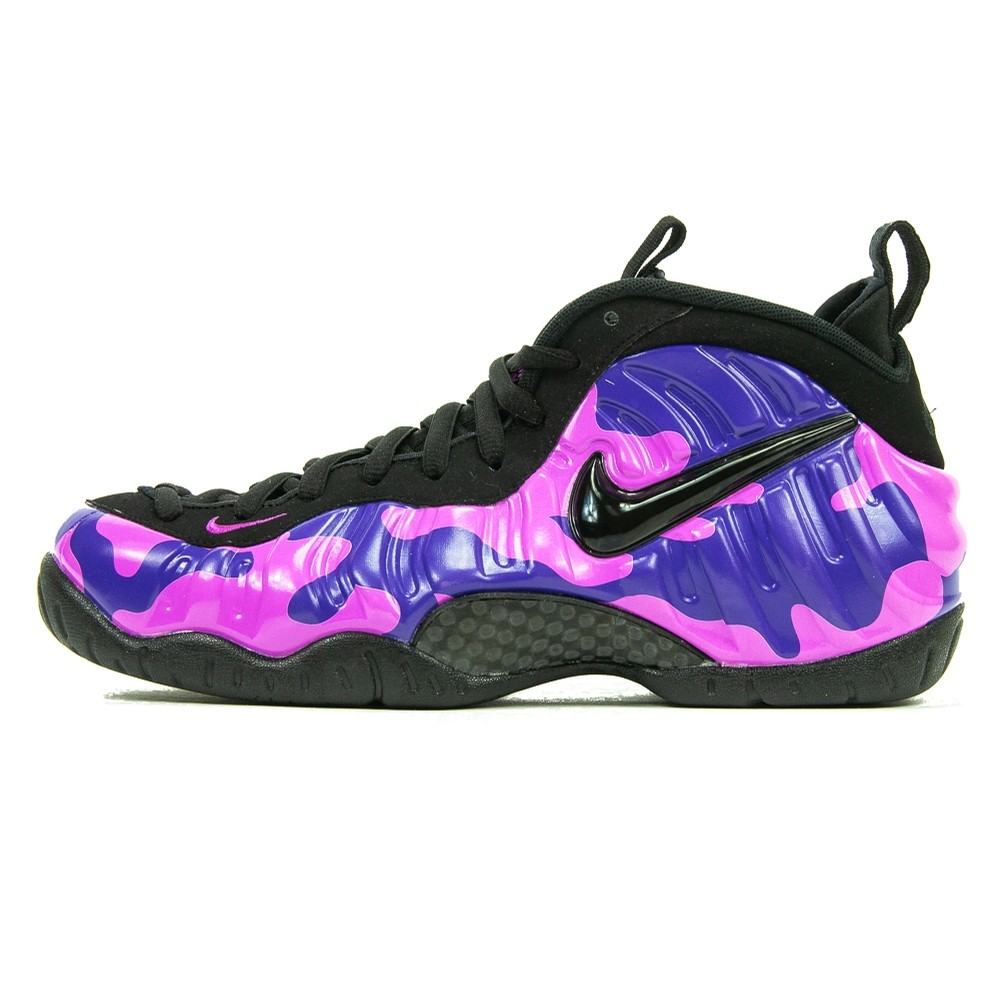 Foamposite Pro (Black/Court Purple Camo)