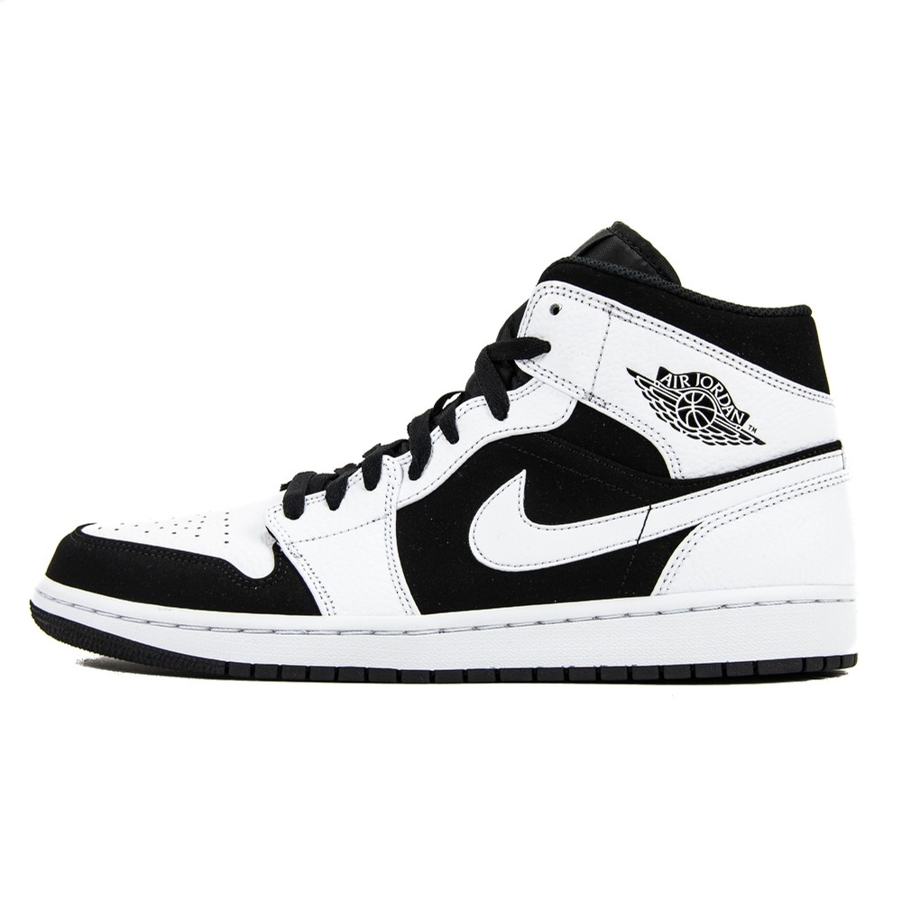 Air Jordan 1 Mid (White/Black/White)
