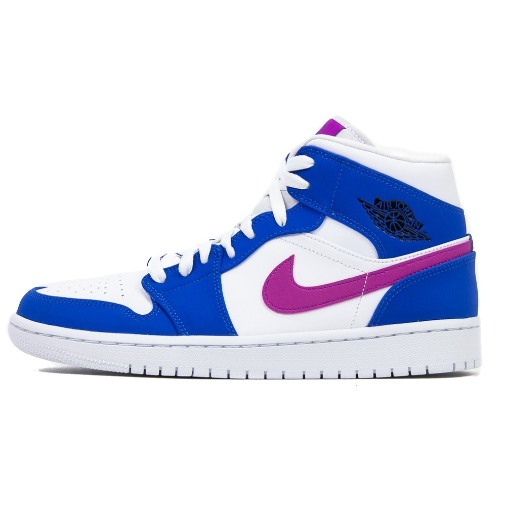 Air Jordan 1 Mid (Hyper Royal/Hyper Violet/White)