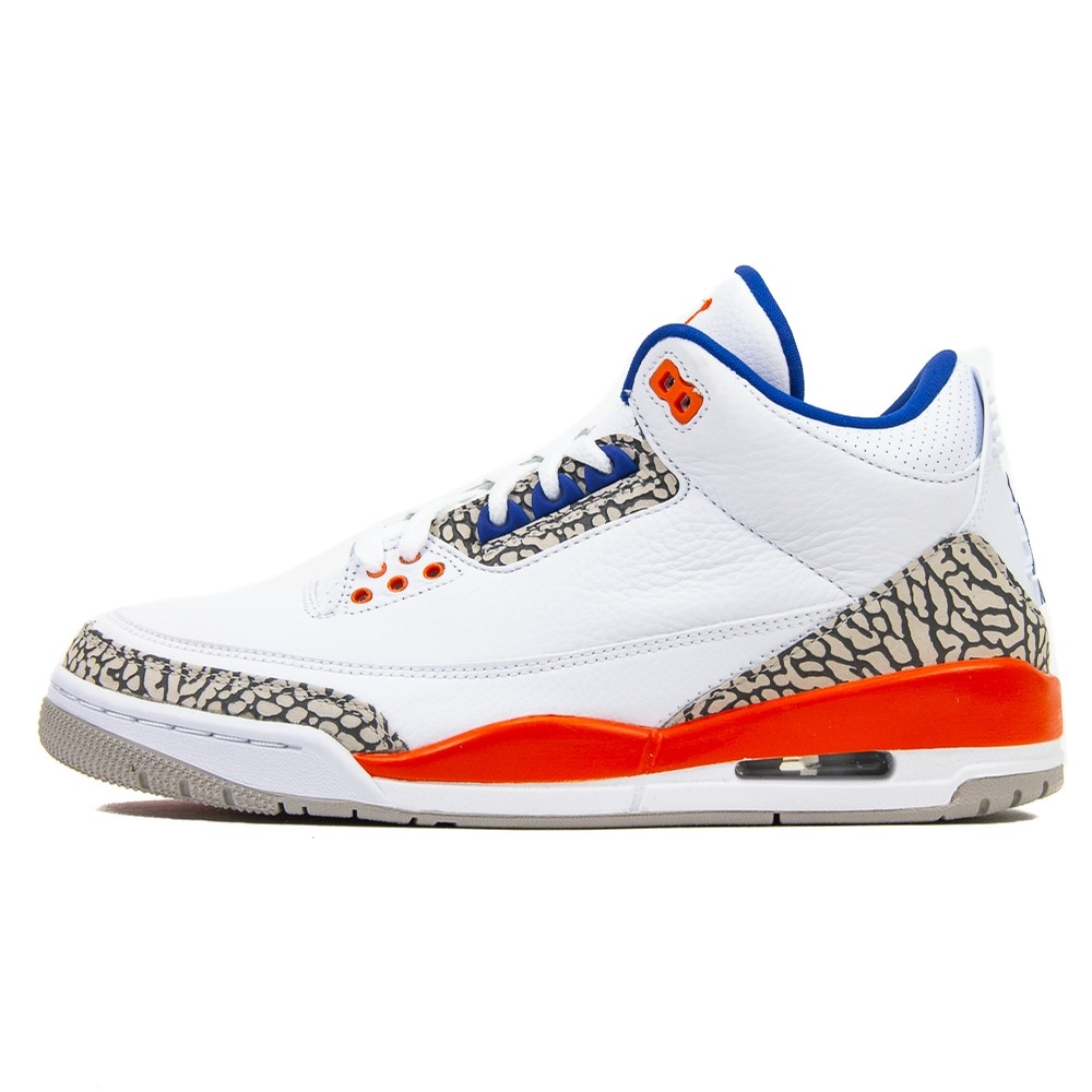 Air Jordan 3 Retro (White/Old Royal/University Orange)