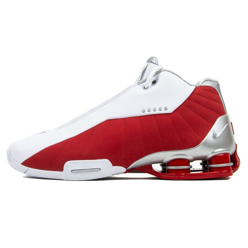 Nike Shox BB4 (White/Red/Metallic Silver)