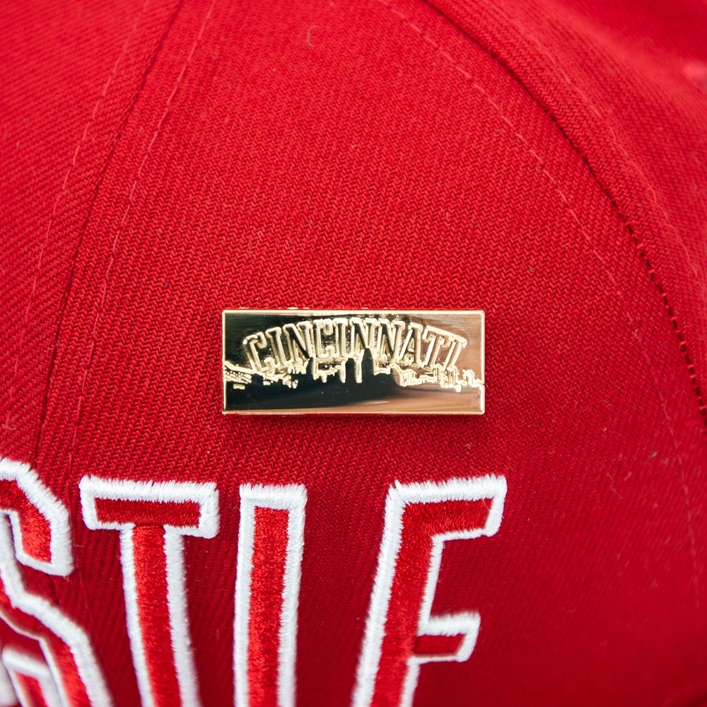 Hustle Cincinnati Snapback (Red)
