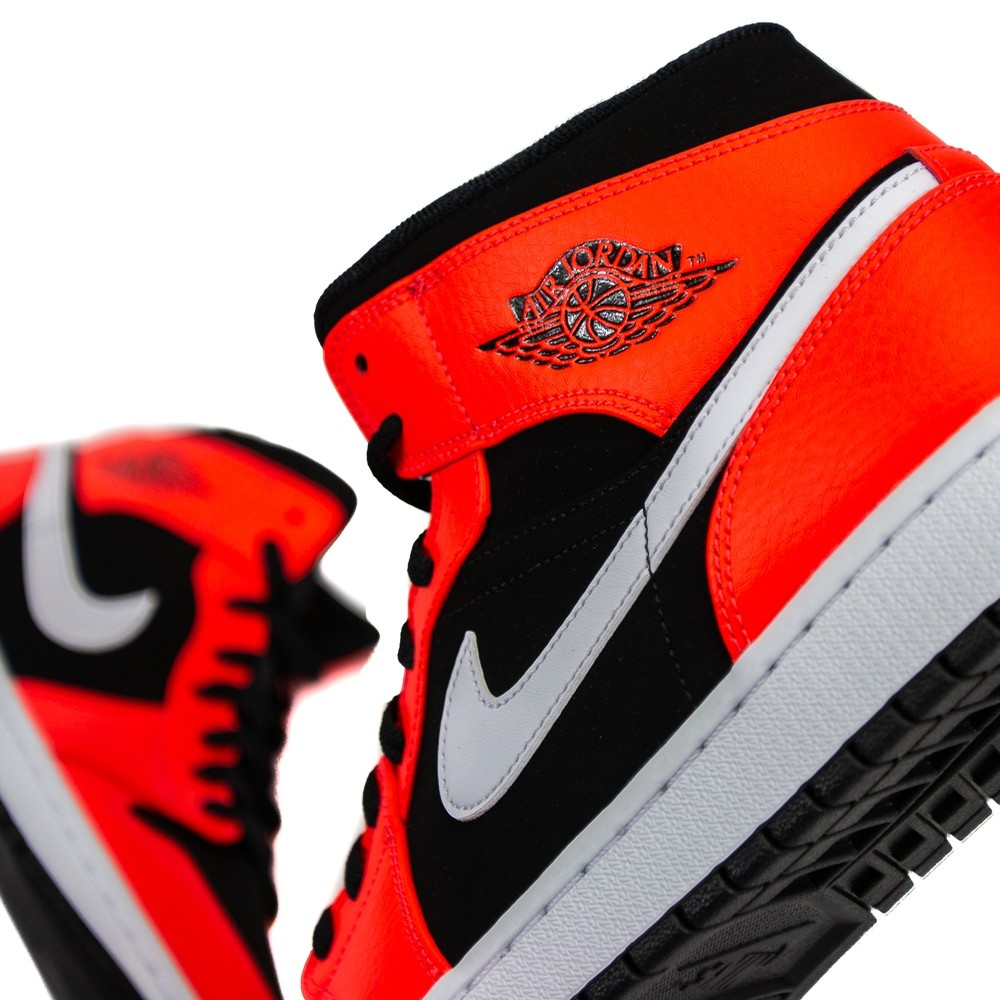 Air Jordan 1 Mid (Black/Infrared 23/White)