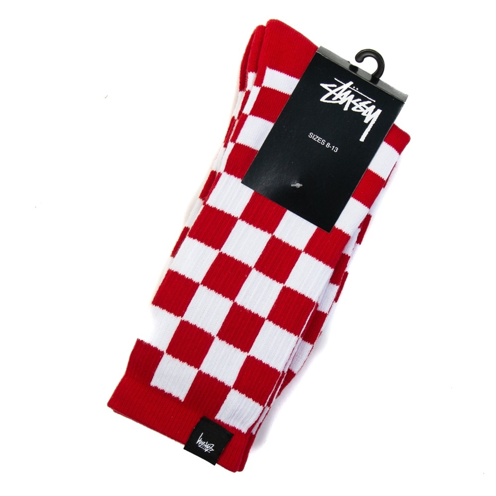 Checker Socks (Red)