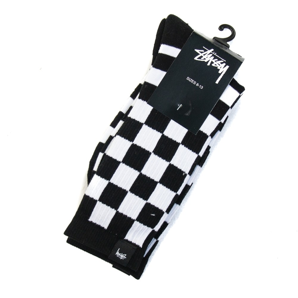 Checker Socks (Black)