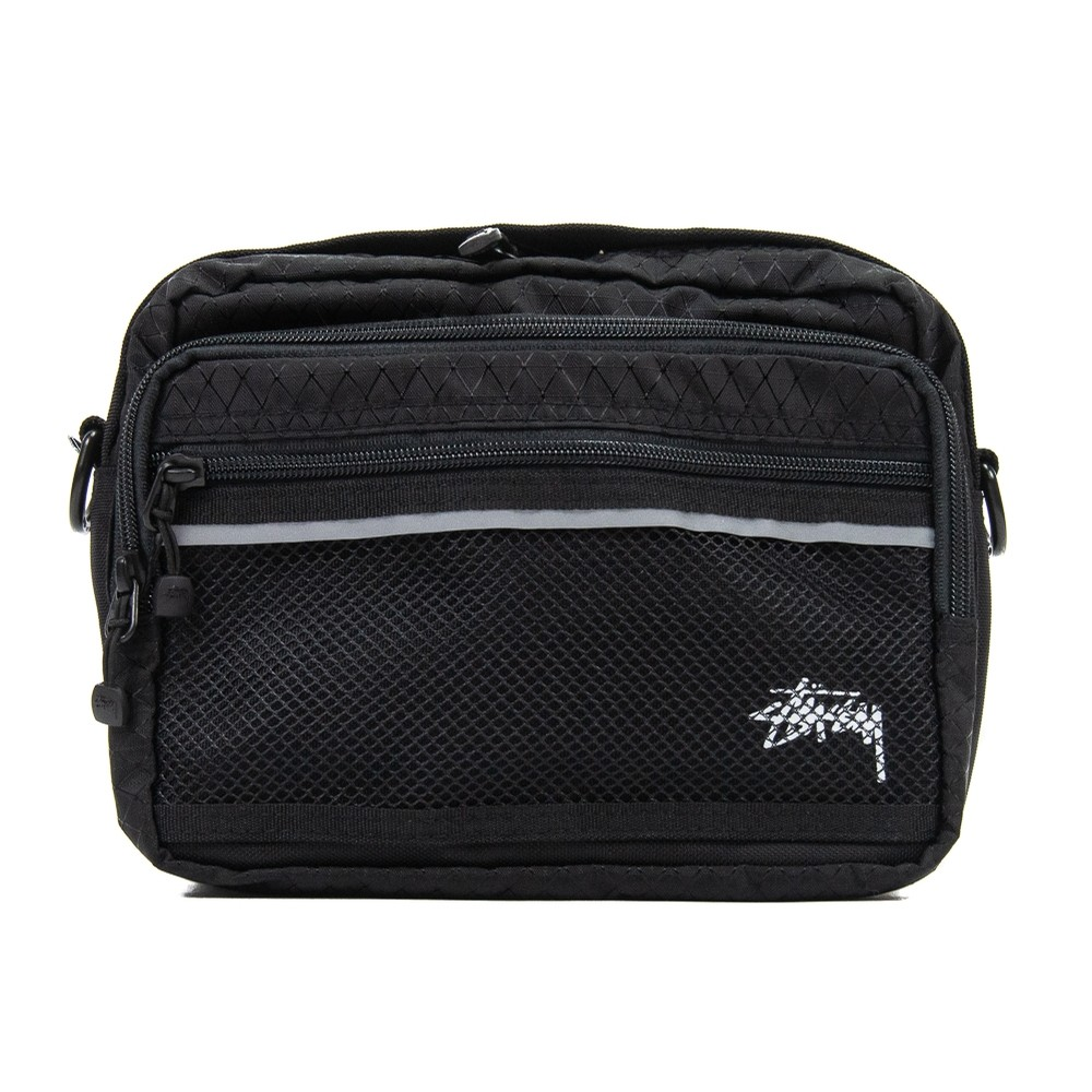 Diamond Ripstop Shoulder Bag (Black)