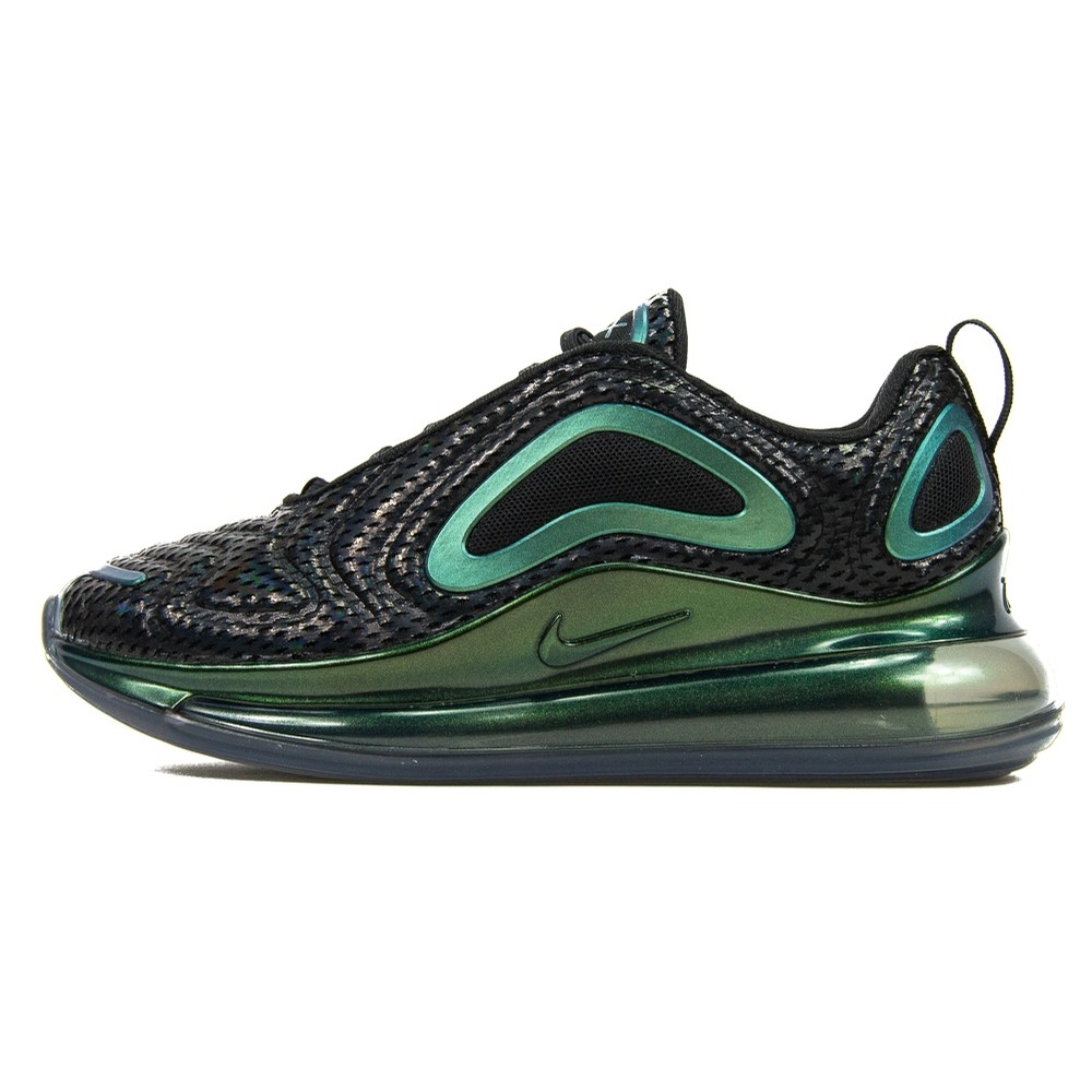 W Air Max 720 (Black/Black/Metallic Silver)