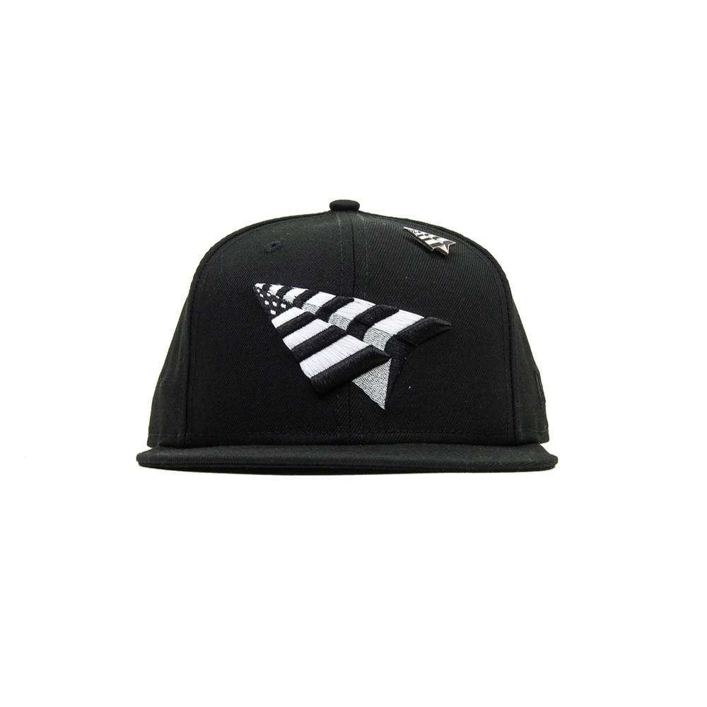The Original Crown Old School Snapback (Black/Black Underbrim)
