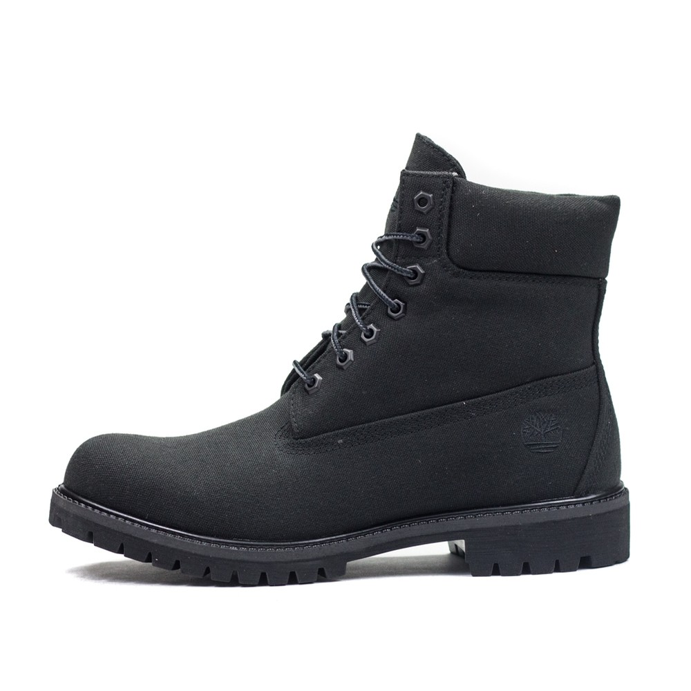 6 Inch Premium Fabric Boot (Jet Black Canvas)