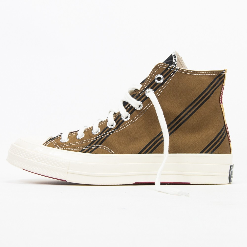 Chuck 70 Hi (Tan/Burgundy/Black)