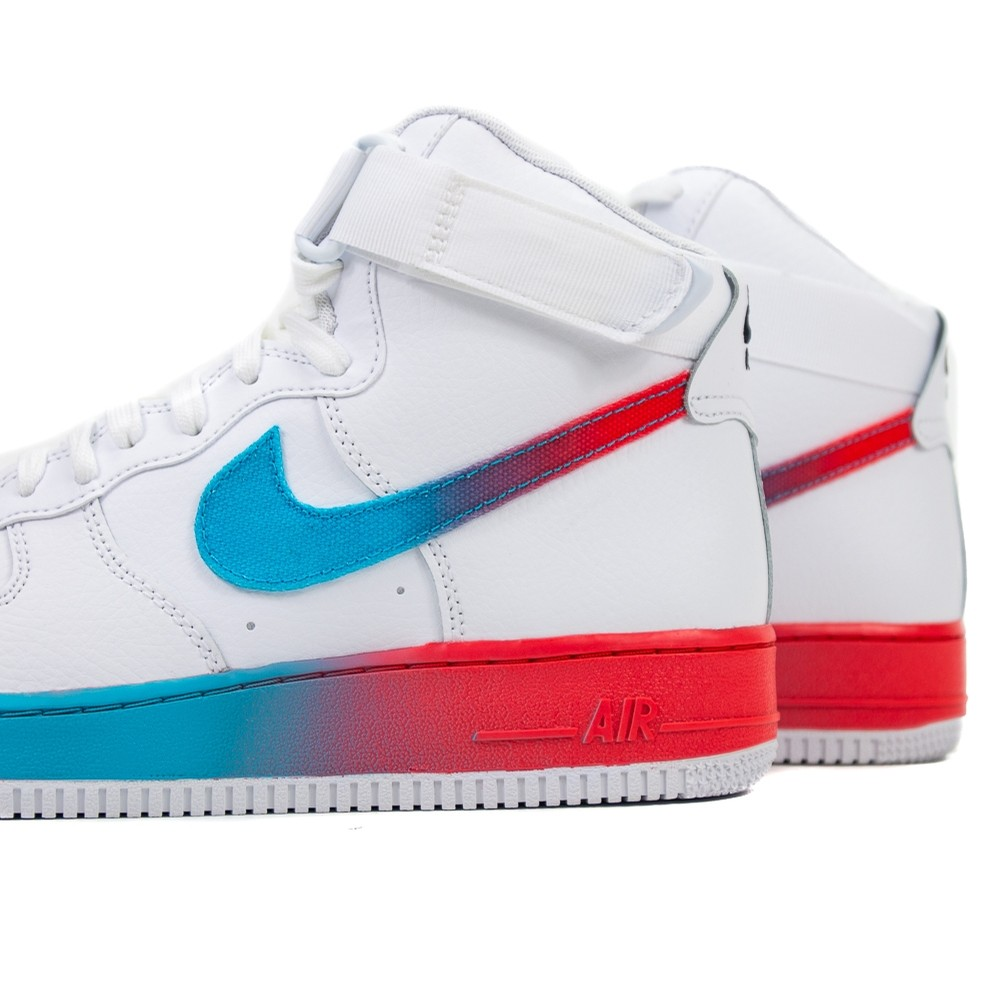 Air Force 1 High 07 LV8 (White/Ember Glow/Blue Fury)