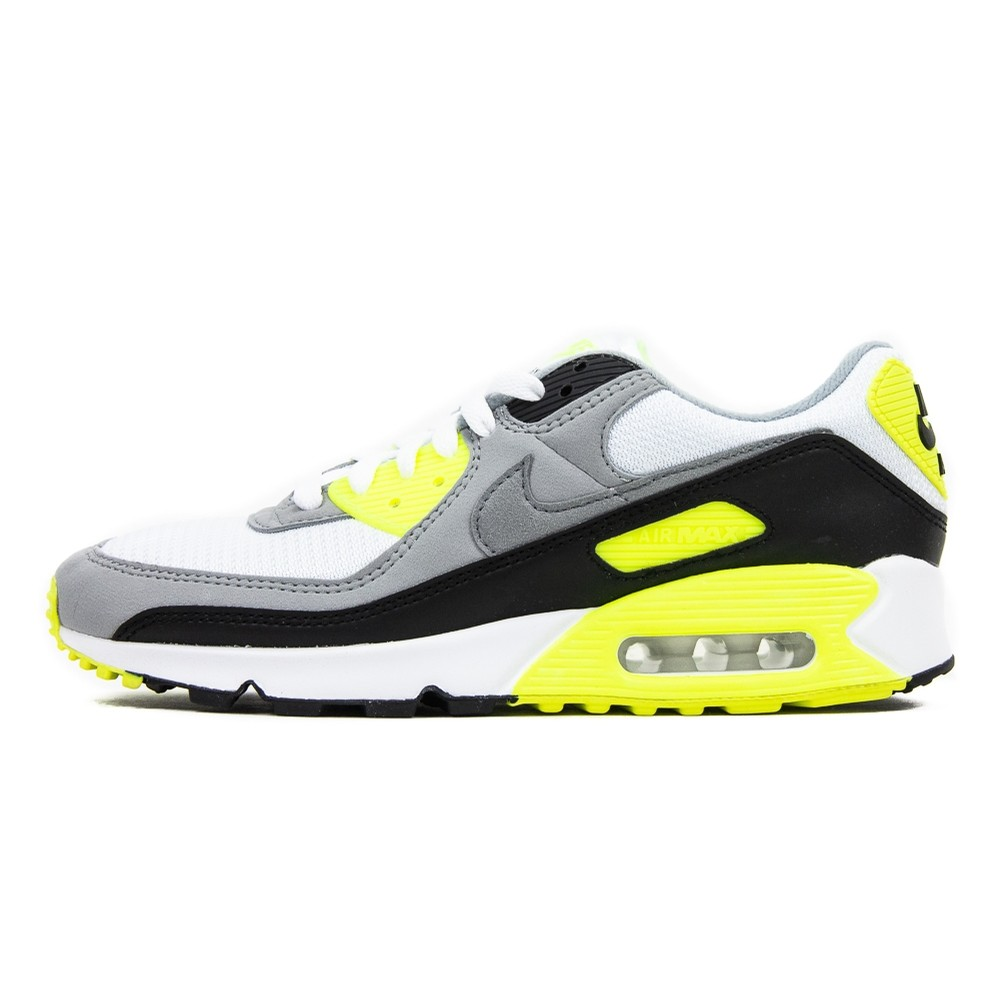 Air Max 90 (White/Particle Grey/Volt/Black)