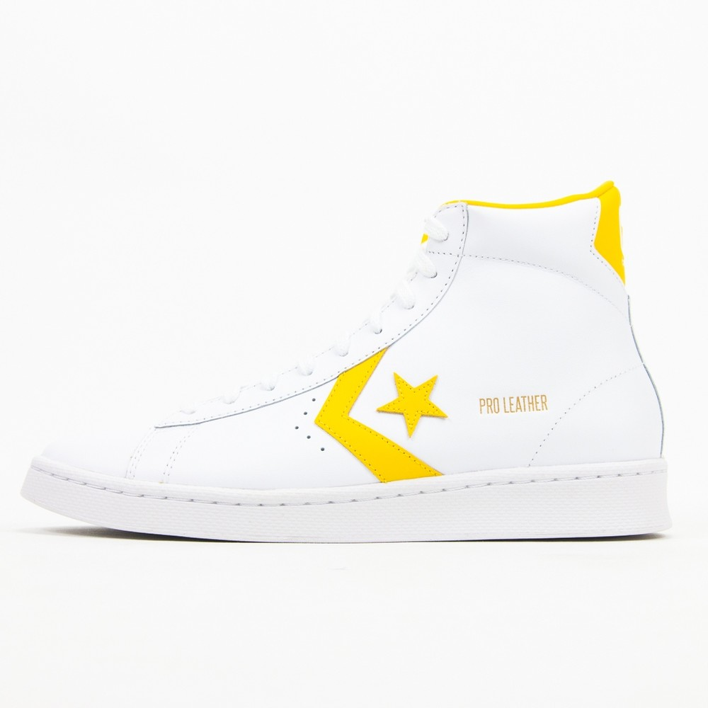 Pro Leather Mid (White/Amarillo)