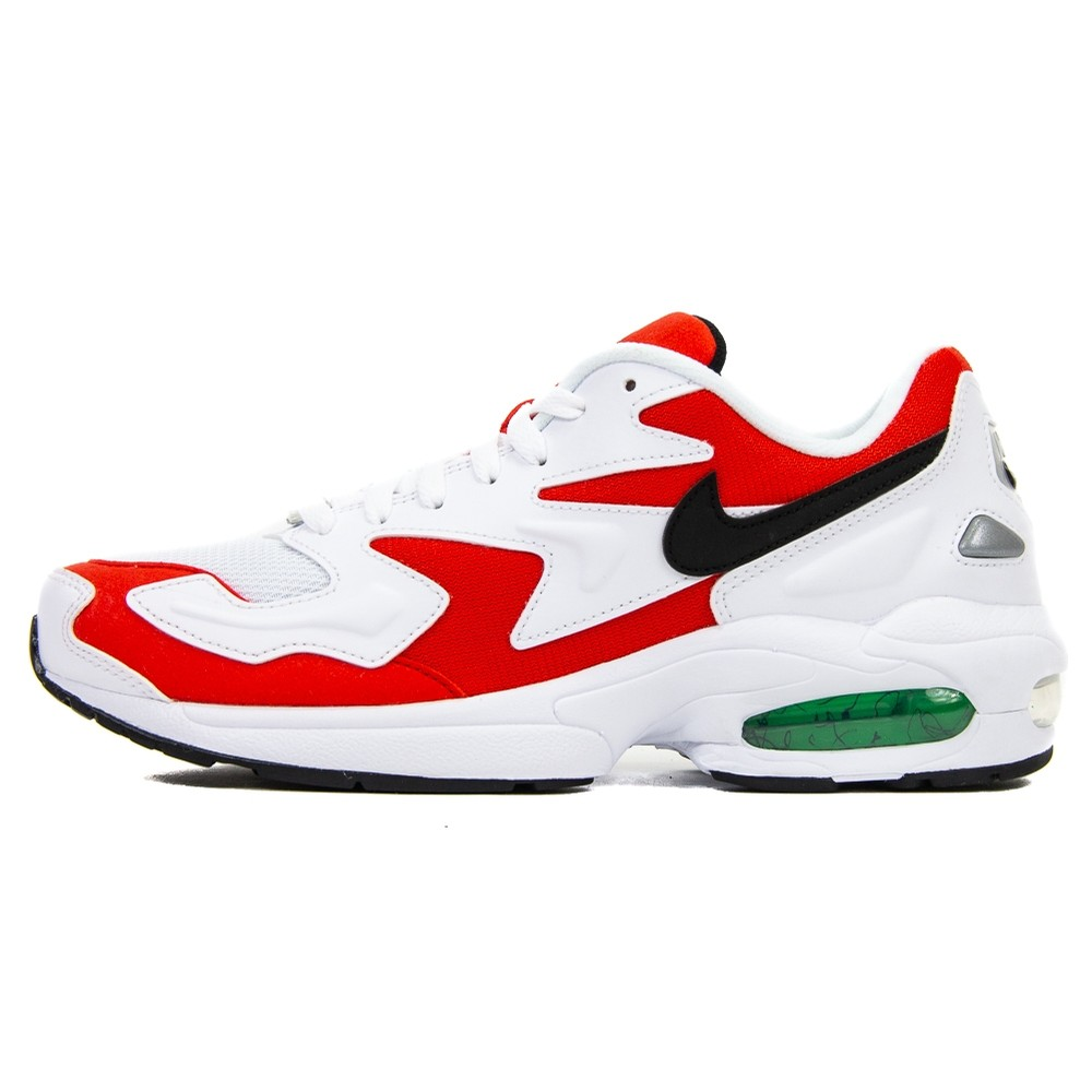 Air Max2 Light (White/Black/Habanero Red)