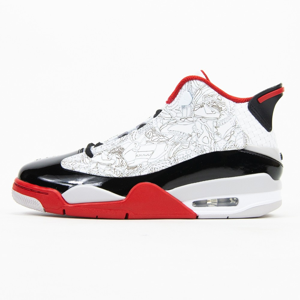Air Jordan Dub Zero (White/Black/Varsity Red/Neutral Grey)