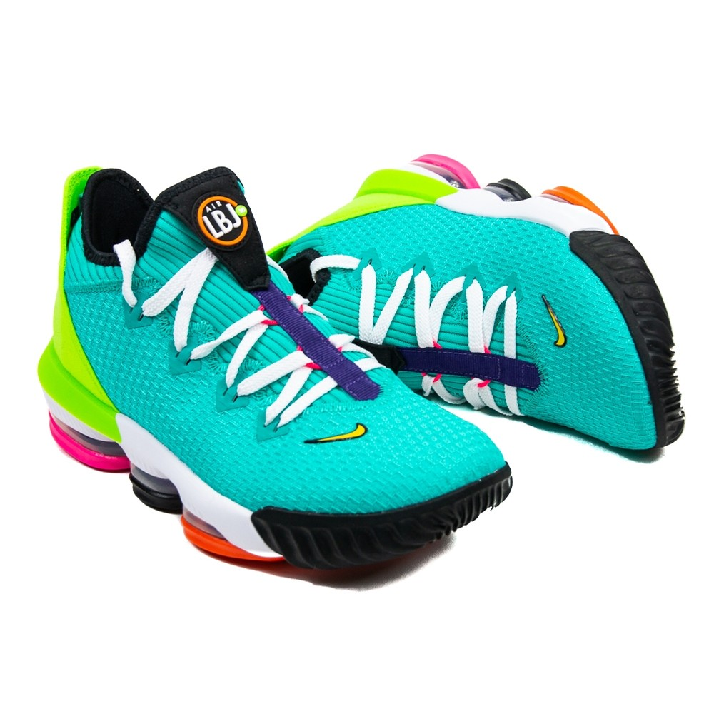Lebron 16 Low (Hyper Jade/Total Orange Electric Green)