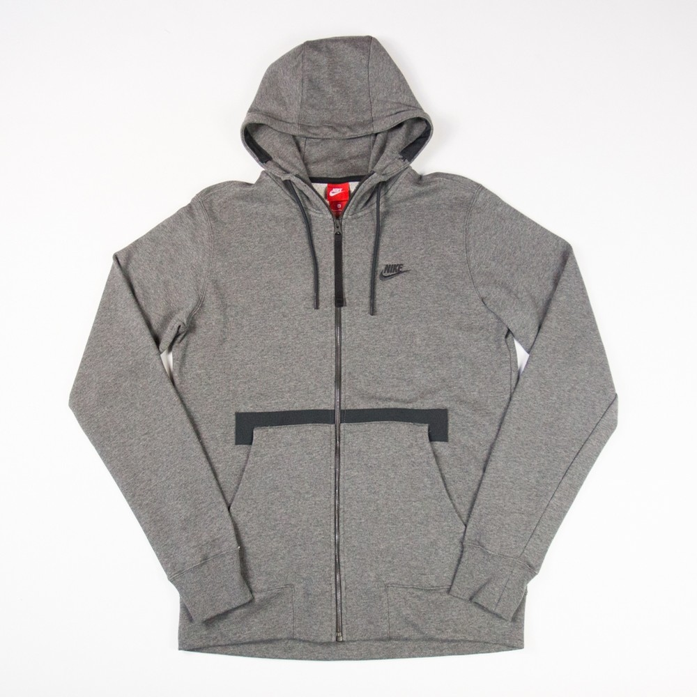 Nike Air Force 1 Zip Hoodie (Charcoal Heather)