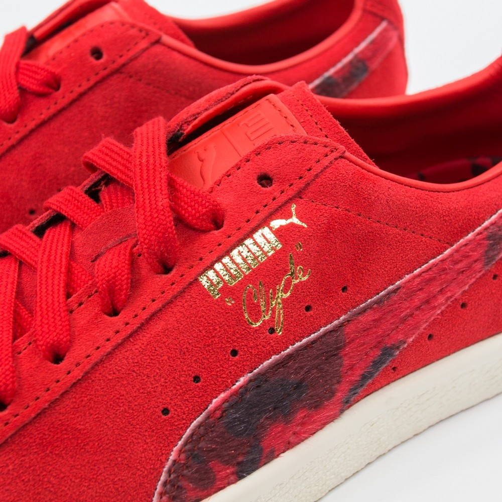 Puma Clyde x Packer (High Risk Red)