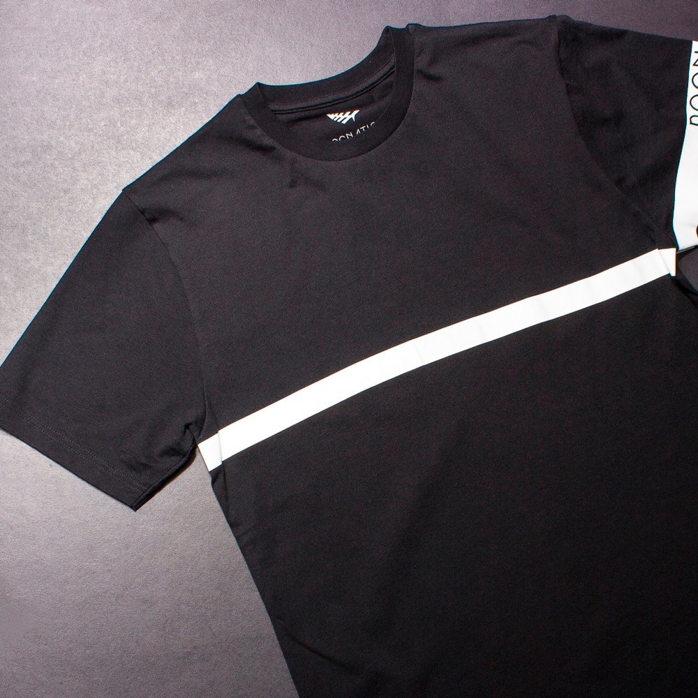 Planes Roc Stripe T-Shirt (Black/White)