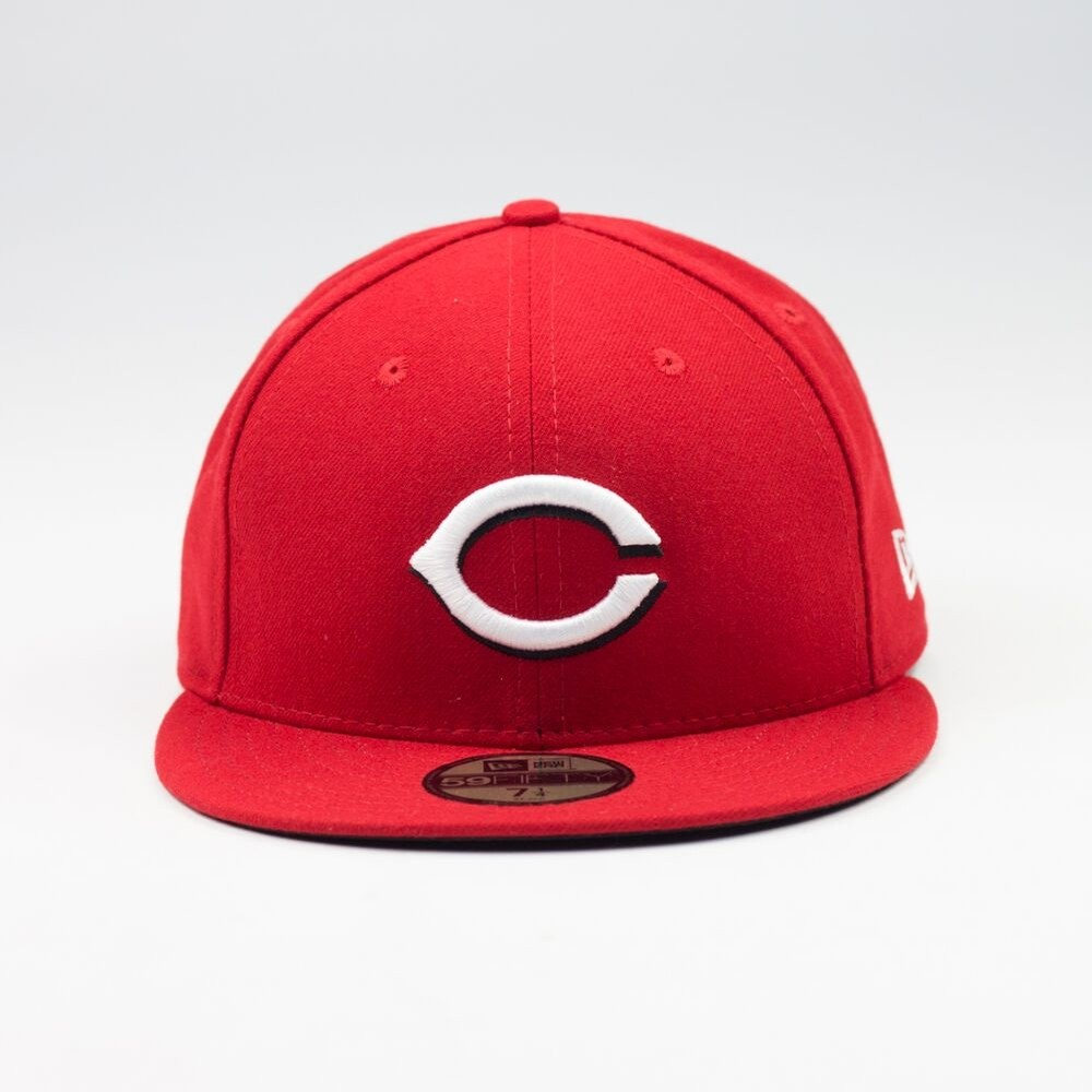 Cincinnati Reds Fitted Cap (Red/White)