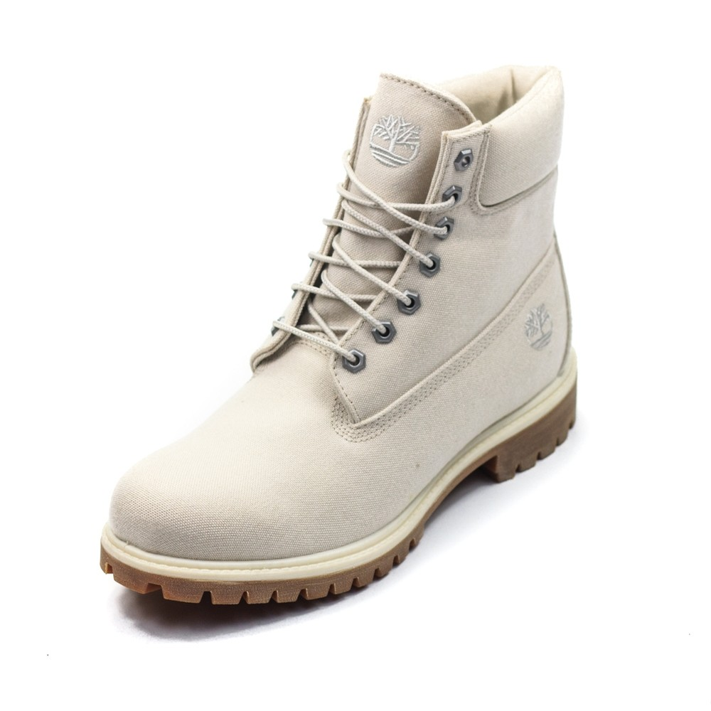 6 Inch Fabric Boot (Light Beige)