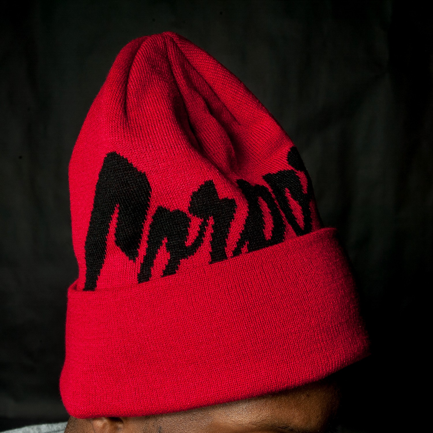 Corporate x Mitchell & Ness Beanie (Red/Black)