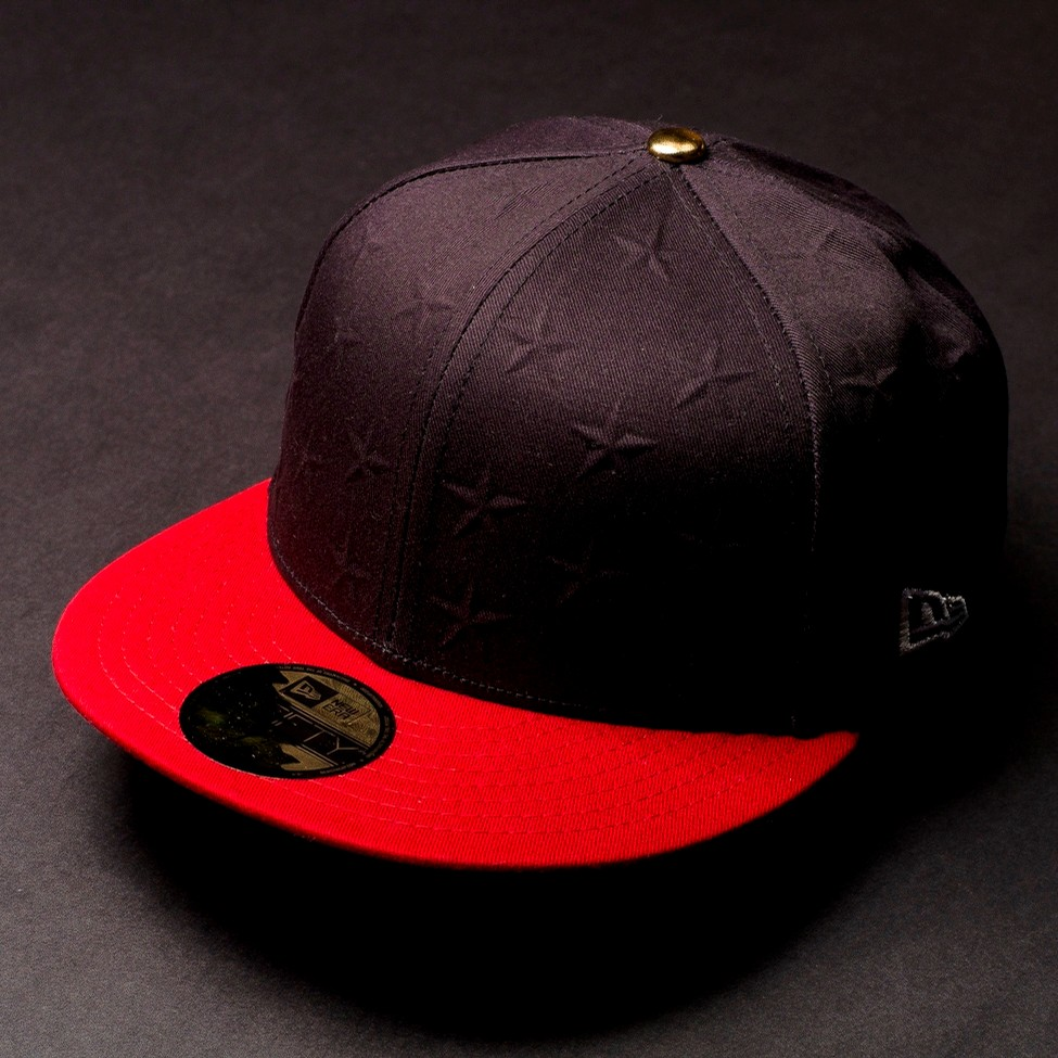 Stars and Stripes Fitted (Navy/Red)