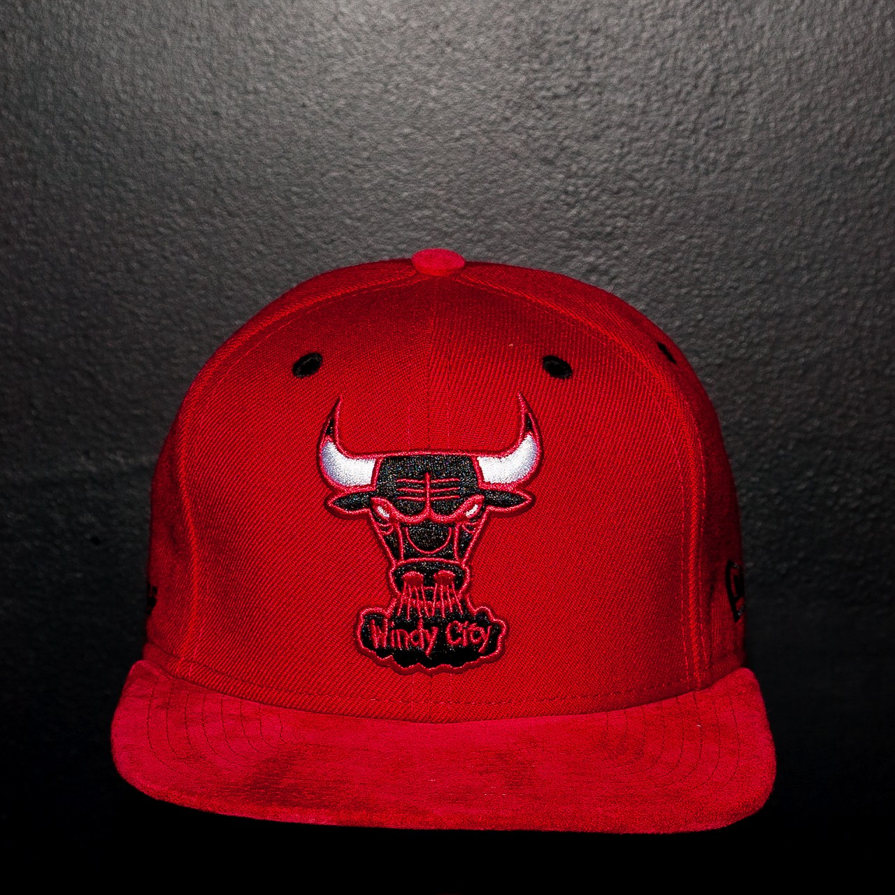 Chicago Bulls Suede Strap Back
