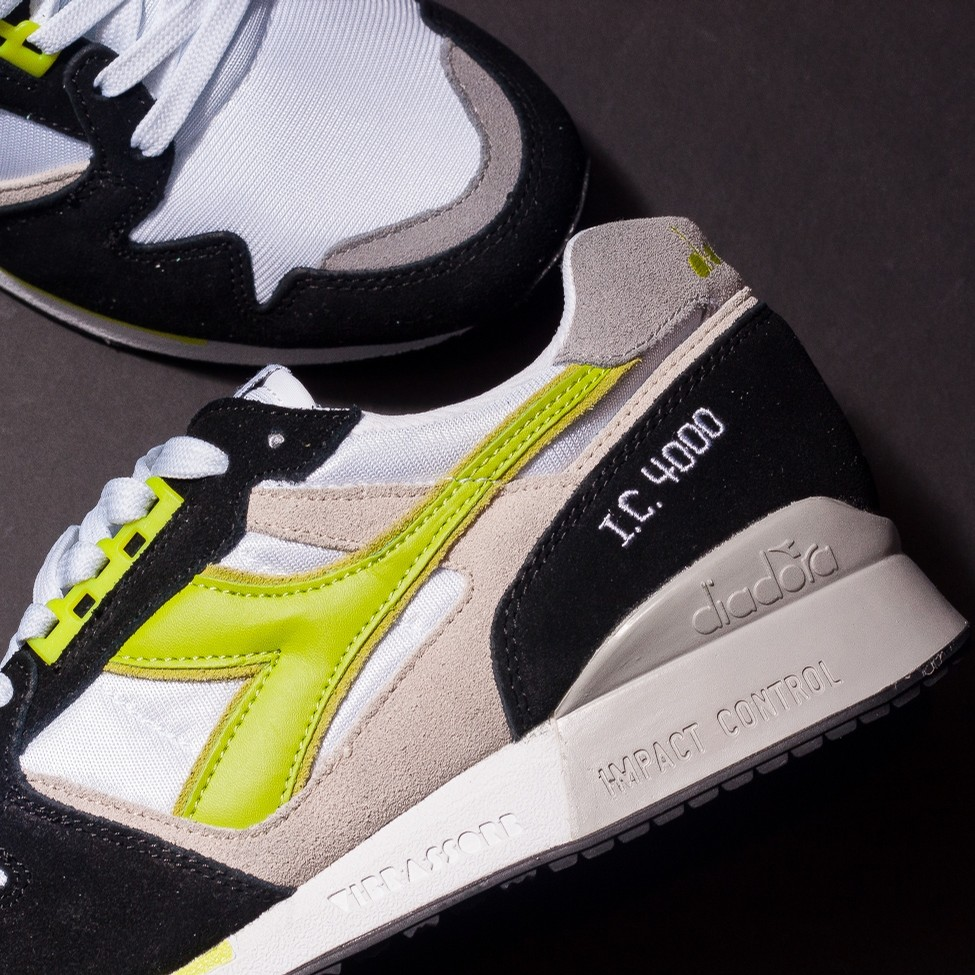 Diadora I.C. 4000 NYL (White/Acid Green)