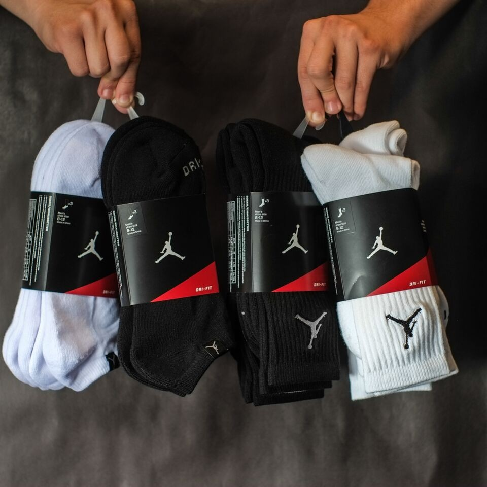 Jordan Dri-Fit 3 Pack Socks - White