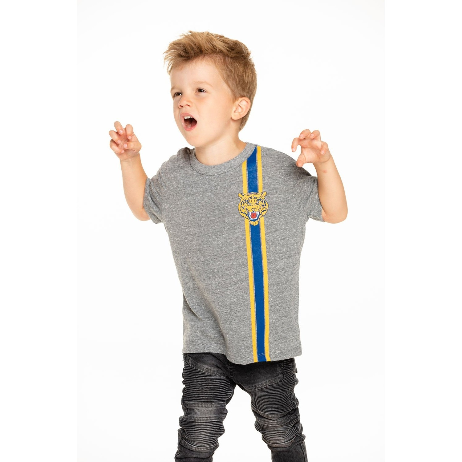 Boys Triblend Short Sleeve Crew Neck Tee (Wild Racer)