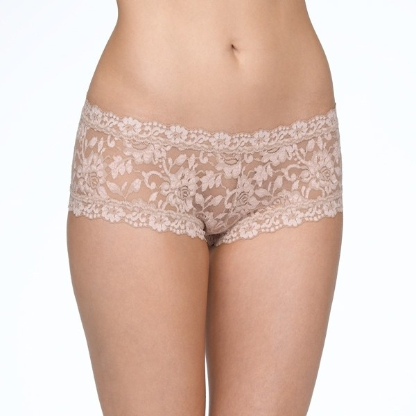 Cross-dyed Boyshort (Taupe-Vanilla)