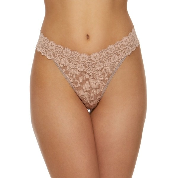 Cross-dye Original Rise Thong (Taupe-Vanilla)