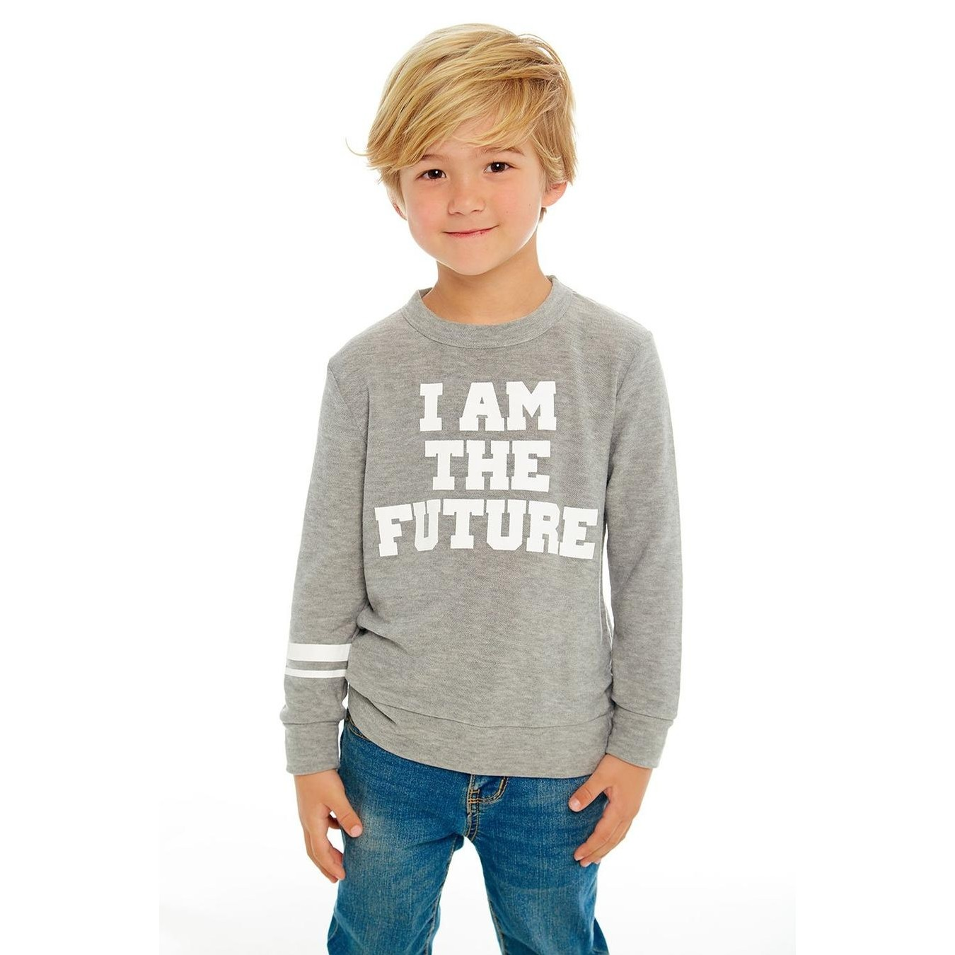 I Am The Future Cozy Knit L/S Crew Neck Pullover Sweater