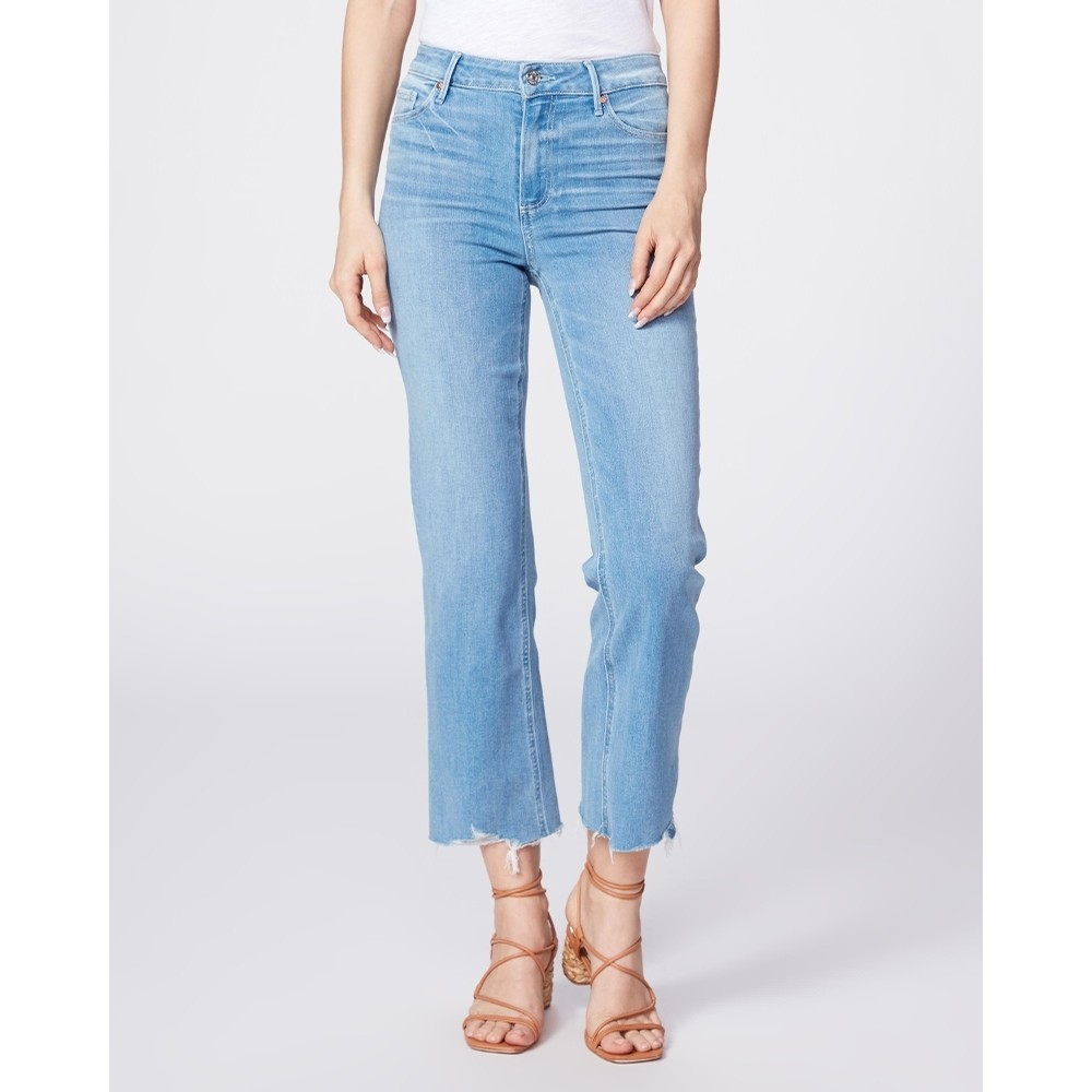 Atley Ankle Flare Cropped Denim with Fray Hem (Satellite)